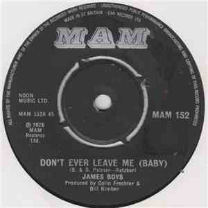 The James Boys  - Don't Ever Leave Me (Baby) album flac