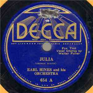 Earl Hines And His Orchestra - Julia / Japanese Sandman album flac